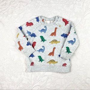 H&M | Grey Dinosaur Print Toddler Boy Sweater